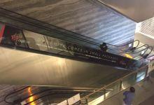 Sticker installation at the escalator for Virgin Active