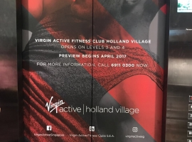 Sticker installation at the lifts for Virgin Active